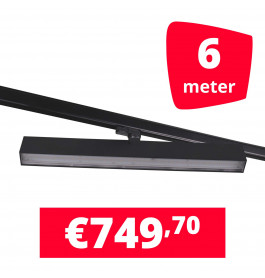 LED Railverlichting Easy Focus Wall 60 cm Zwart 6 spots + 6M rails
