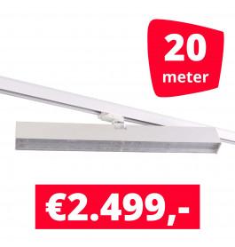 LED Railverlichting Easy Focus Wall 60 cm Wit 20 spots + 20M rails