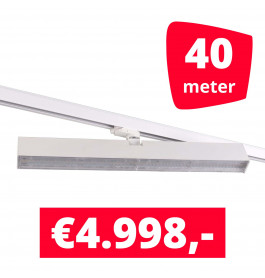 LED Railverlichting Easy Focus Wall 60 cm Wit 40 spots + 40M rails