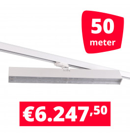 LED Railverlichting Easy Focus Wall 60 cm Wit 50 spots + 50M rails