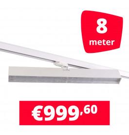 LED Railverlichting Easy Focus Wall 60 cm Wit 8 spots + 8M rails