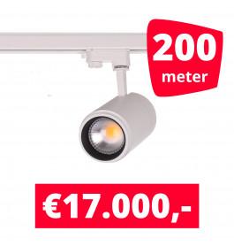 LED Railverlichting Easy Focus 25W Wit 200 spots + 200M rails