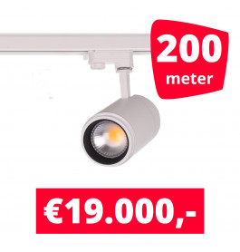 LED Railverlichting Easy Focus 30W Wit 200 spots + 200M rails