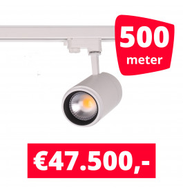 LED Railverlichting Easy Focus 30W Wit 500 spots + 500M rails