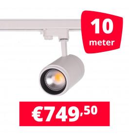 LED Railverlichting Easy Focus 15W Wit 10 spots + 10M rails