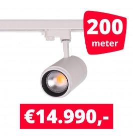 LED Railverlichting Easy Focus 15W Wit 200 spots + 200M rails