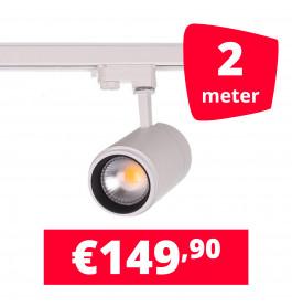 LED Railverlichting Easy Focus 15W Wit 2 spots + 2M rails