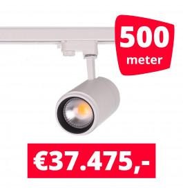 LED Railverlichting Easy Focus 15W Wit 500 spots + 500M rails