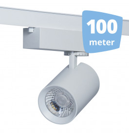 LED RAILVERLICHTING EOS WIT 100 SPOTS + 100M RAILS