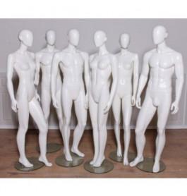 6 x Faceless etalagepoppen van merk gruppo corso wit in de mix
