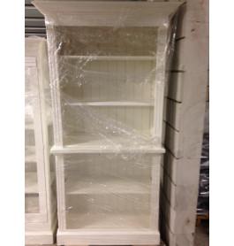 Mooie witte winkelkast van 100 breed met legvakken
