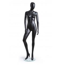 Faceless etalagepop dame mat zwart GAGA04-MB