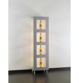 Special vitrinekast Galleria MDF RAL 9010 51 CM zonder opties | Wit