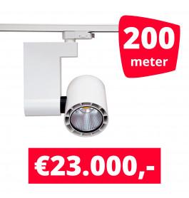 LED Railverlichting Ledimo 10 35W Wit 200 spots + 200M rails
