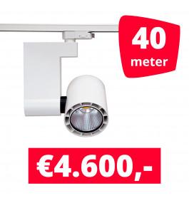 LED Railverlichting Ledimo 10 35W Wit 40 spots + 40M rails