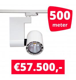 LED Railverlichting Ledimo 10 35W Wit 500 spots + 500M rails