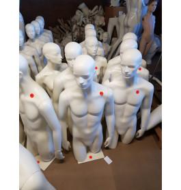 HEREN!!!!!!!!!!!!!Gebruikte witte torso's dames & heren excl. poot!