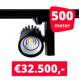 LED Railverlichting Horeca Ghost Black 500 spots + 500M rails