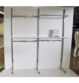 wandsysteem gondola kledingrek kliksysteem 2 meter