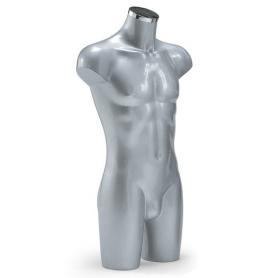 Italiaanse heren torso's in grijs met chromen dop