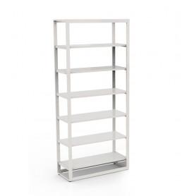 Bigshop KIT8801 - H2400 - 1 span - wit met 6x witte glossy planken