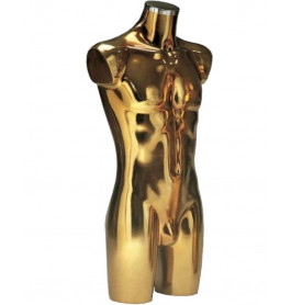 Italiaanse heren torso's in goud met chromen dop
