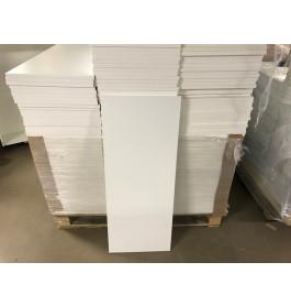 Planken 100 x 40 x 1 cm mat wit