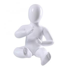 Faceless etalagepop baby glossy wit KM6-GW