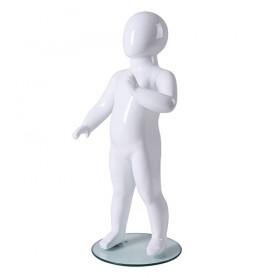 Faceless etalagepop baby glossy wit KM7-GW