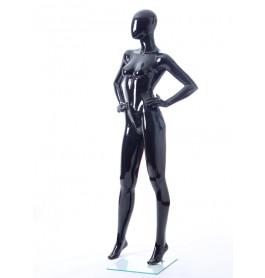 Faceless etalagepop dame glossy zwart GLB6