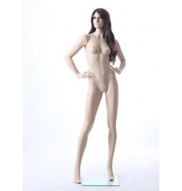 Realistische etalagepop vrouw, huidkleurig EVA01