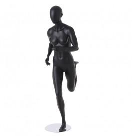 Sport Faceless etalagepop dame mat zwart ZJFS01-BLACK