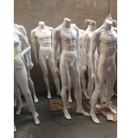 Headless heren etalagepoppen wit van exclusief A-merk