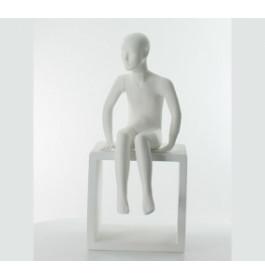 Abstract Etalagepop Kind Zittend Merk Gruppo Corso Mat Wit 5 Jaar