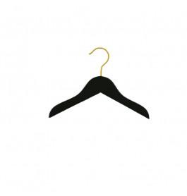 Hanger kids black Helena 26 cm gold hook