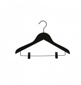 Hanger kids black Helena 36 cm with clips