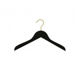 Hanger kids black Helena 36 cm with gold hook