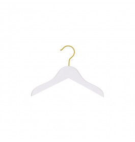 Hanger kids white Helena 26 cm gold hook