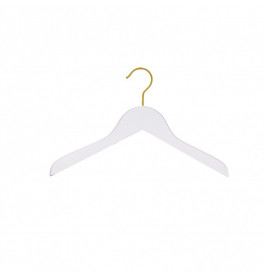 Hanger kids white Helena 36 cm with gold hook