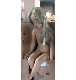 Kinderpop met pruik