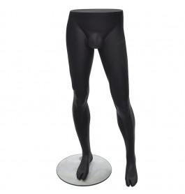 Heren benen zwart merk Gruppo Corso met voetplaat
