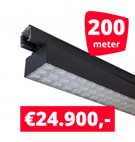 LED Railverlichting Labarra Zwart 100 spots + 200M rails