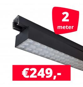 LED Railverlichting Labarra Zwart 1 spots + 2M rails