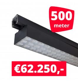 LED Railverlichting Labarra Zwart 250 spots + 500M rails