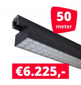 LED Railverlichting Labarra Zwart 25 spots + 50M rails