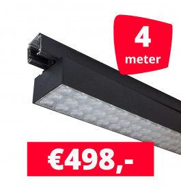 LED Railverlichting Labarra Zwart 2 spots + 4M rails