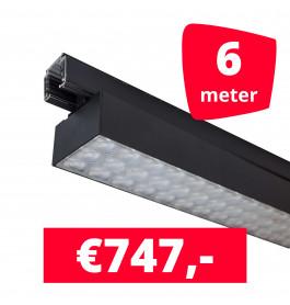 LED Railverlichting Labarra Zwart 3 spots + 6M rails