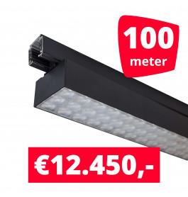 LED Railverlichting Labarra Zwart 50 spots + 100M rails