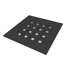 LED Paneel Pro Vierkant Zwart 60 x 60 cm