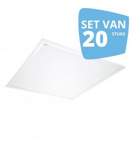 20 x 40W LED Paneel 60 x 60 cm 3000K Warmwit
